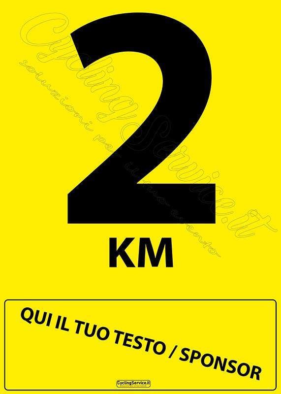 cartello2 km , 2 km, cyclinservice.it